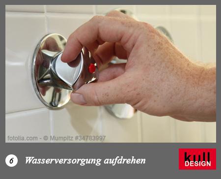 Wasserversorgung aufdrehen