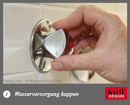 Wasserversogung kappen