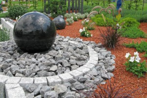 Kugelbrunnen für den Garten