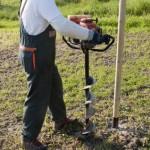 Erdbohrer zum Brunnenbau