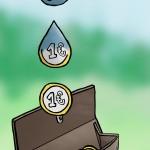 Brunnen zum Gelsparen