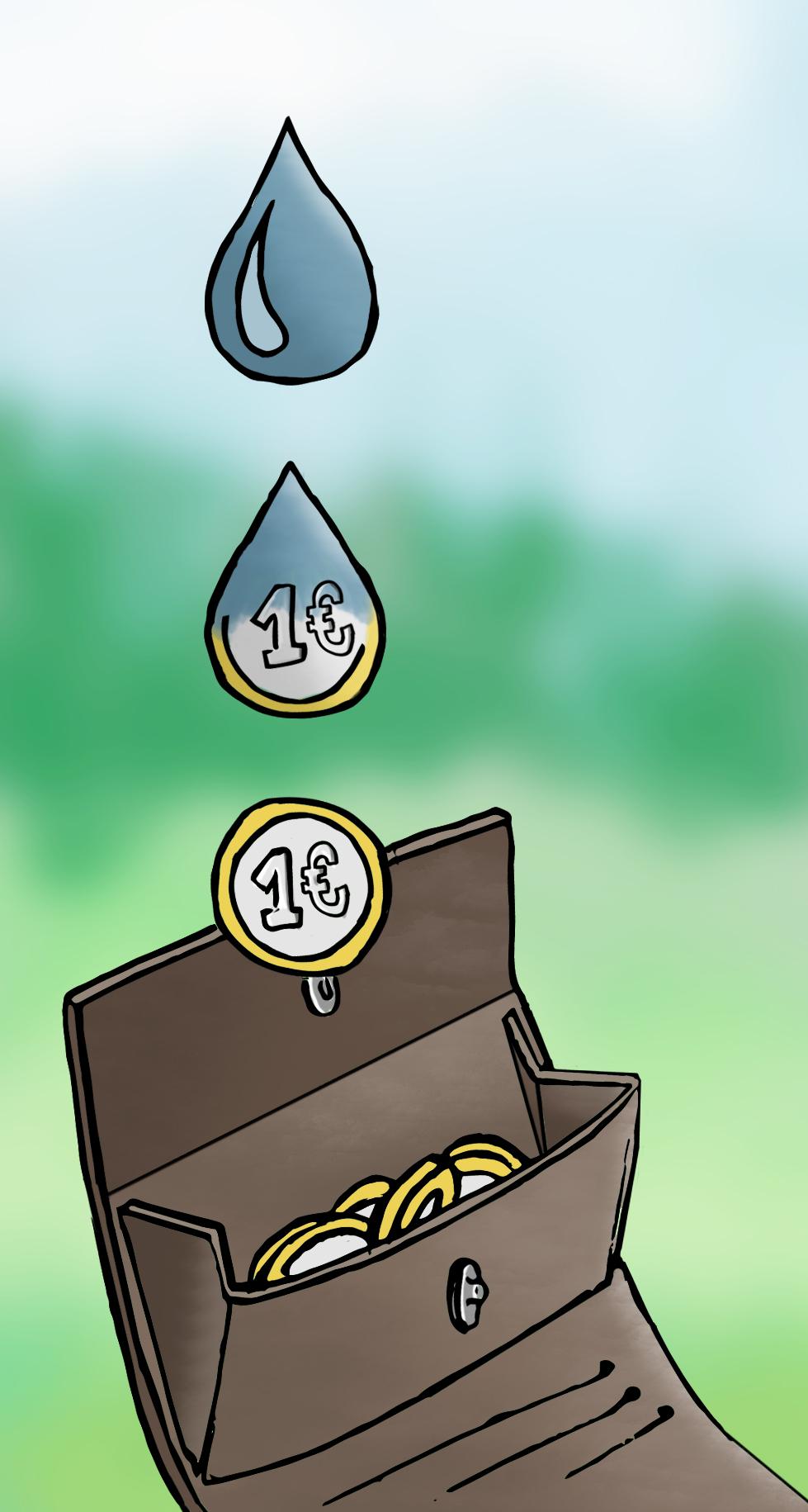 Bild: Geld für Wasser sparen mit einer Regentonne