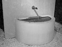 Wasserhahn aus Edelstahl