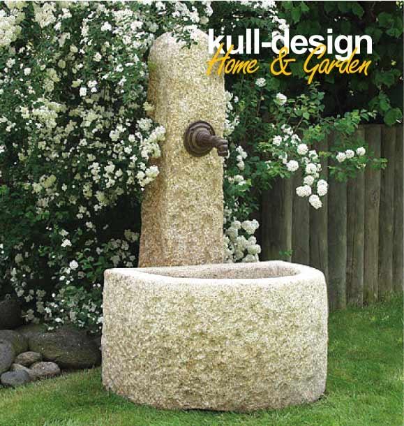 natursteinbrunnen garten, kull design, Design ideen