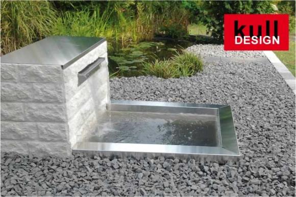 Teichbecken aus edelstahl for Gartenteich design