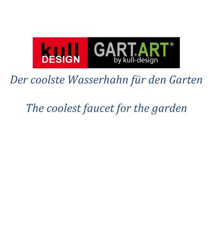 Wanddusche für den Garten in Edelstahl-Optik