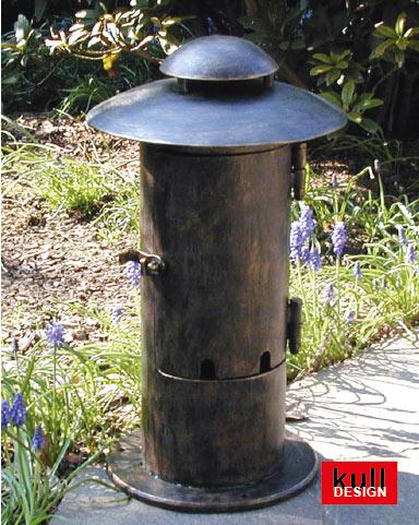 POST FOR SOCKETS with 2x Schuko garden splitter outlet bollard