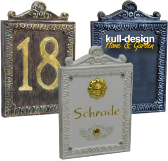 Gestaltbare Blende als Frontblende für Klingel oder Hausnummer
