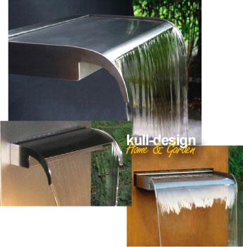 Edelstahl Wasserfall für Gartenbrunnen