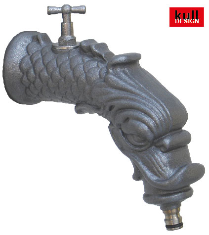 garden tap 21cm, With decorative dragon on the spout body