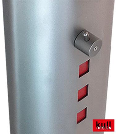 Zusatzventil nach DVGW in Blende eingebaut mit Schlauchanschluss