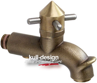 Design Bronze Gartenwasserhahn gebogen