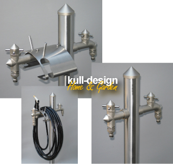 garden water tap from specialist for design products made of stainless steel
