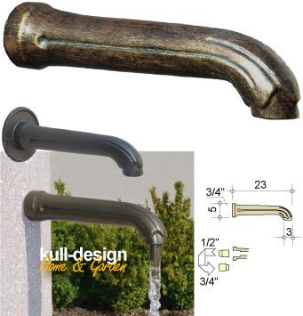 Schlichter Wasserspeier 23 cm für Brunnen.