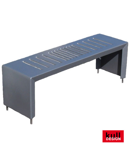 Edelstahl Gartenbank - Sitzbank und Gießkanneabstellfläche. Stylish - modern viel verwendet bei Wasserstellen auf dem Friedhof.<br> Breite 100 cm