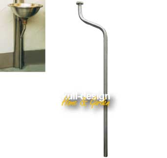 Stainless steel drain pipe for the water basin