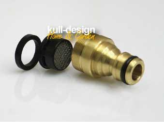Schlauchanschluss für Ihren Gartenschlauch mit integriertem Perlator
