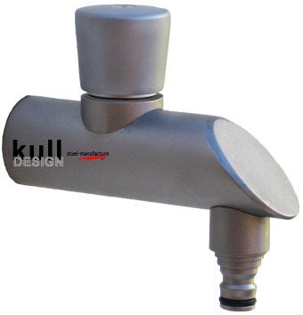 Design Edelstahlwasserhahn mit Click Schlauchanschluss, passend für 1/2
