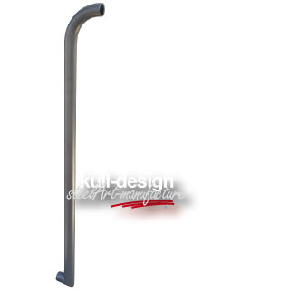 Stand fountain pipe D= 3.3 cm, h: 80 cm above 90 degrees bent 20 cm with 3/4