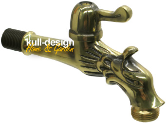 ornamental garden tap in brass