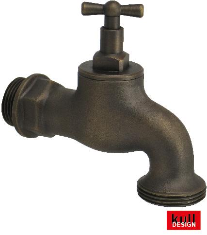 a brass classik garden tap