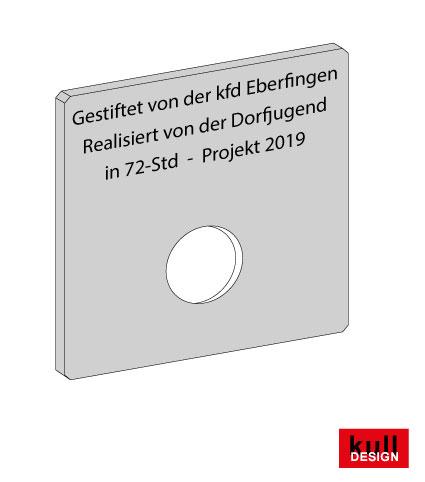 Edelstahl Rosette 10 x 10 cm für Wasserhahn
