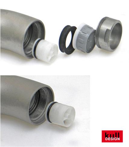 Rohrtrenner und Rückflussverhinderer in Edelstahl für Wasserhähne