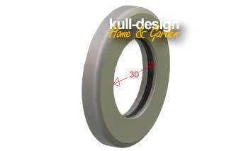 Stainless steel sliding grating inside with sliding ring for garden faucet D= 3 cm