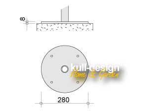 wall rosette 0-08-28-0cm