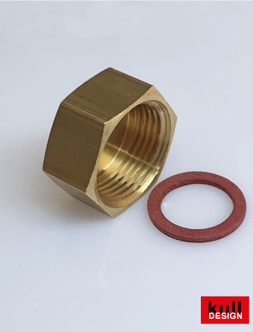 Brass cap with 3/4