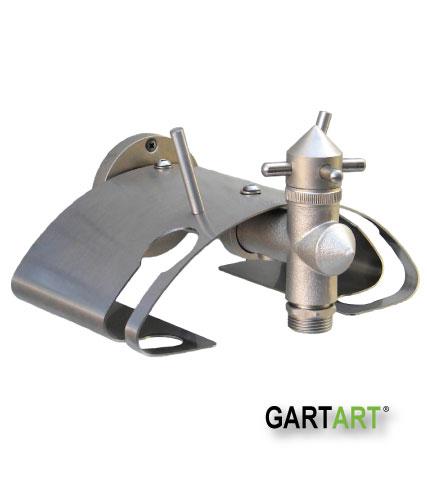 Wand-Schlauchhalter mit integriertem Wasserhahn