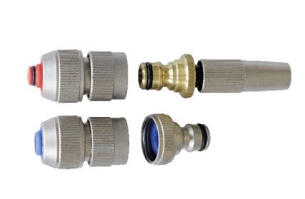 Schlauchkupplungsset komplett in Edelstahl-Optik