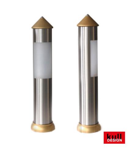 Edelstahl Lichtpoller für Wege und Garten von Gart+Art - Sie bekommen dies im <B>kull-design</b> shop!