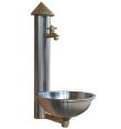 Wandbrunnen, Edelstahl, Wasserbecken, Gartenwasser